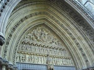 Tímpano de la portada norte de la Abadía de Westminster